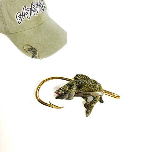WALLEYE HOOKIT© Hat Hook - Fishing Hat Clip