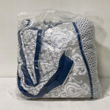 Load image into Gallery viewer, Blue Damask Comforter
