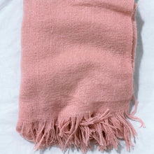 Load image into Gallery viewer, Pink Fringed Blanket