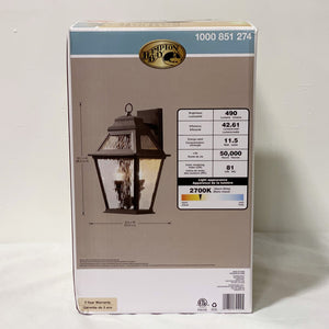 2-Light LED Outdoor Wall Lantern
