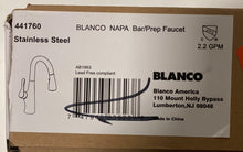 Load image into Gallery viewer, Blanco Napa Stainless Steel Prep Kitchen Faucet