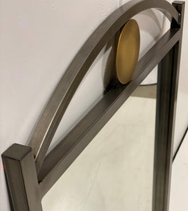 Metal Mirror with Gold Circle