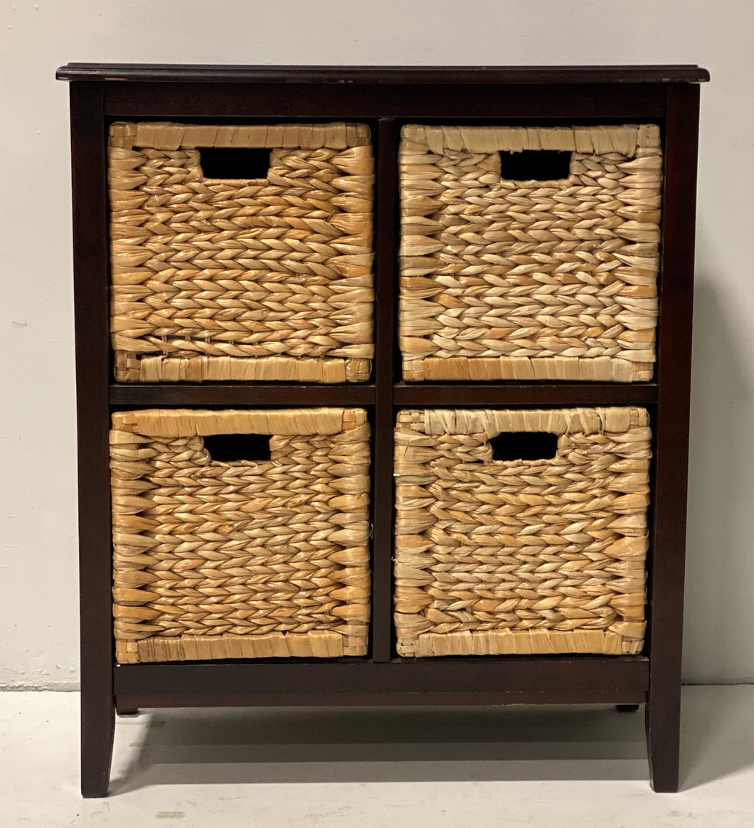Faux Basket-front Chest of Drawers