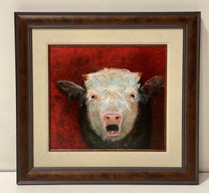Original Oil on Canvas 'Calf' Painting