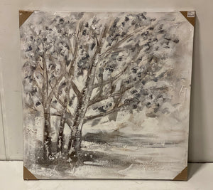 Textured Tree Canvas Art