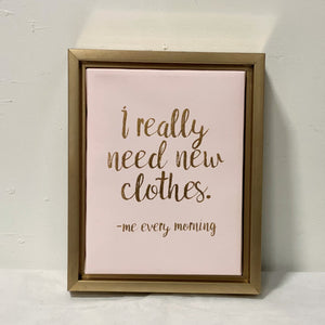 New Clothes - Framed Canvas