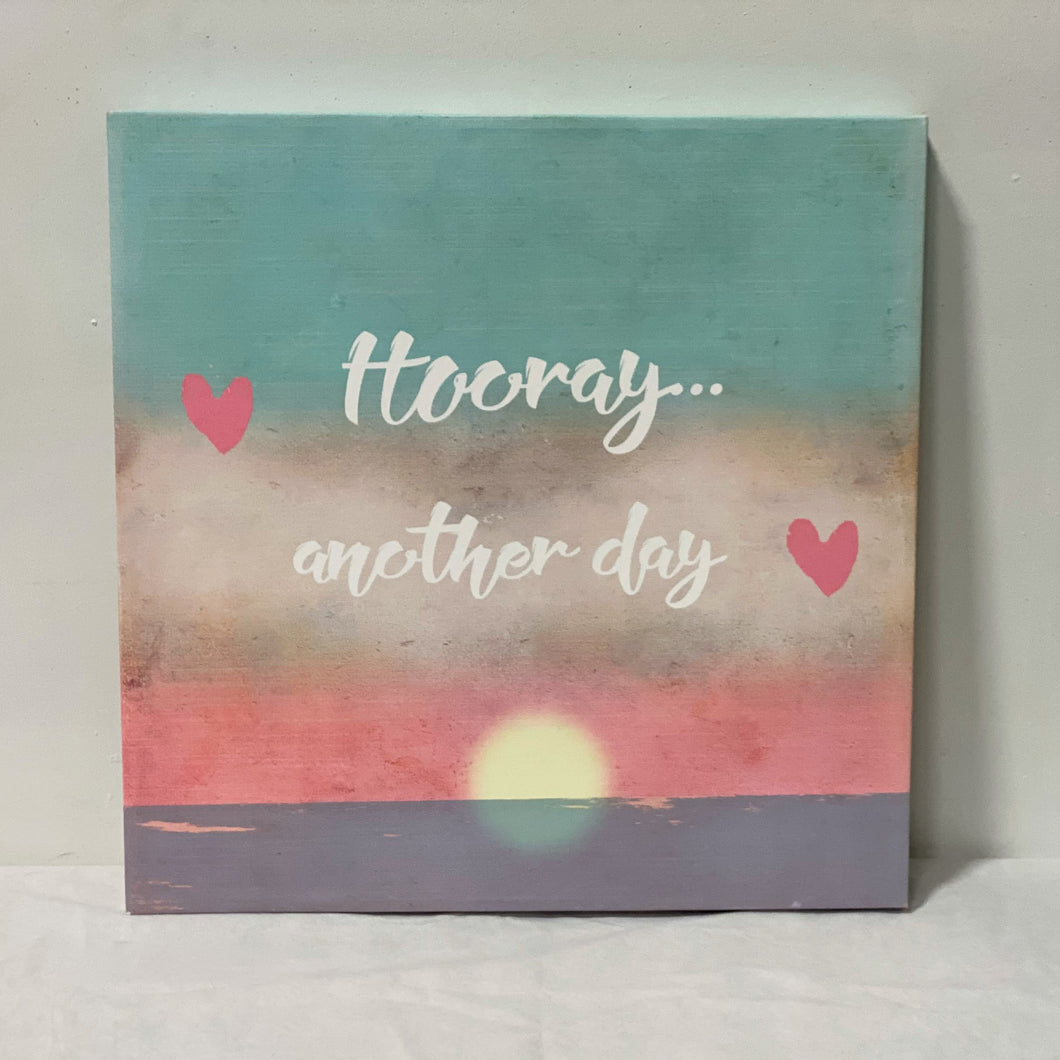 Hooray Another Day - Canvas