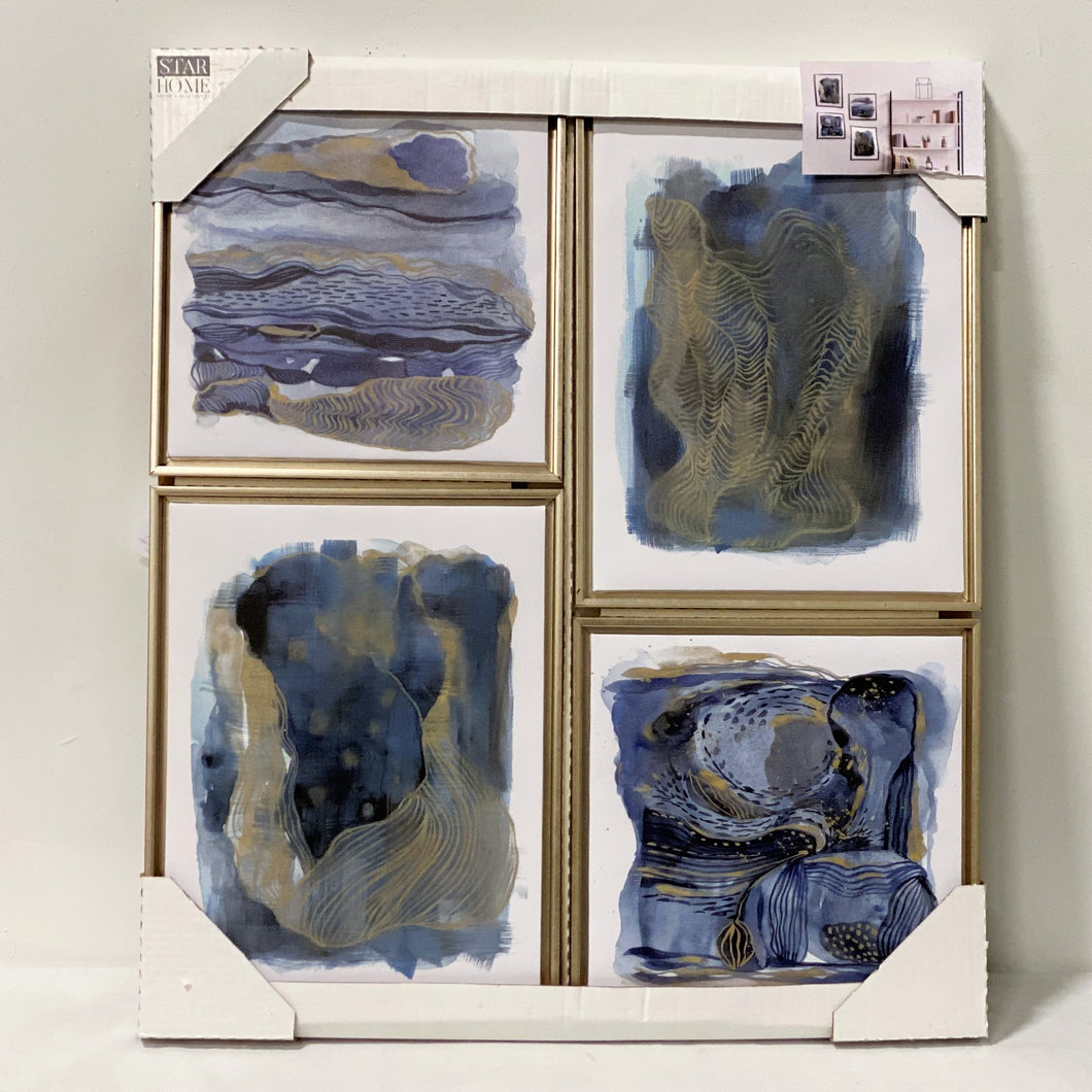 4-Piece Gallery Wall (Blue Canvas)