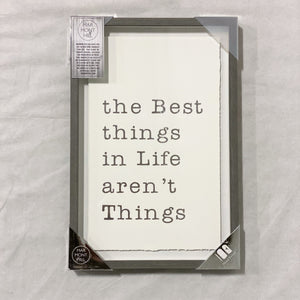 'The Best Things' Framed Art