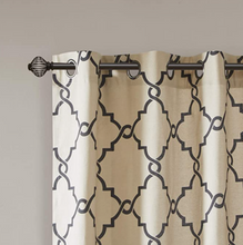 Load image into Gallery viewer, Madison Park 'Saratoga' Curtain Panel Fretwork Print