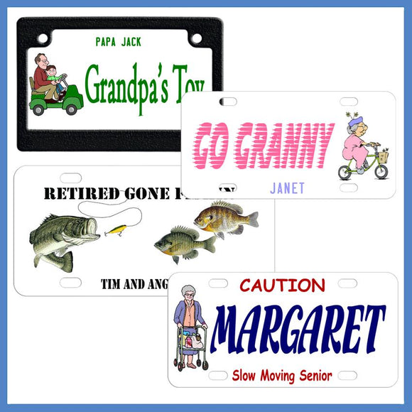 Adult Design License Plates