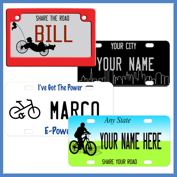 Share The Road Personalized Bicycle License Plates