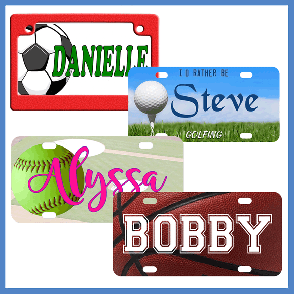 Sports Themes License Plates & More