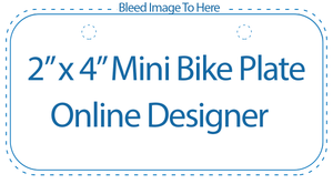 "Online Designer for 2"" x 4"" Mini Bicycle License Plates"