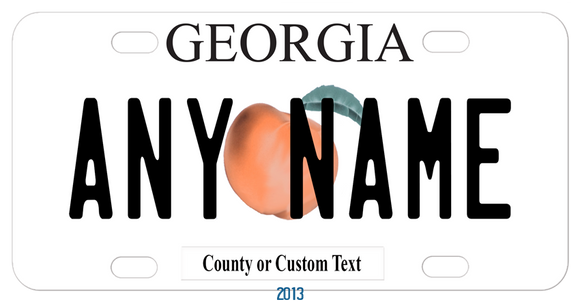 Georgia Peach Bike Plate design inspired by the 2012 Georgia license plate