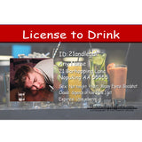 21 st birthday license to drink joke license for guys