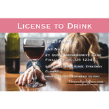 21 license to drink joke wine drunk license for girls