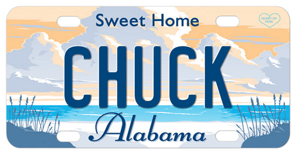 Sweet Home Alabama mini bike plate with your name your spelling