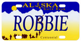 Alaska Gold Rush License Plate with any name personalized