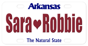 Arkansas The Natural State Plate 1998 - 2006 personalized with any name