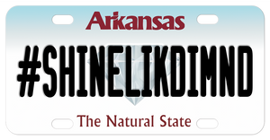 Arkansas Diamond Mini License Plate Personalized