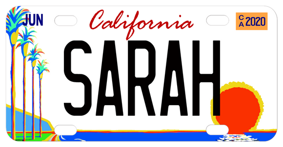 California Palm Trees Mini Replica License Plate