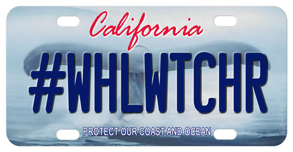 California Whales Tale mini license plates personalized with your name