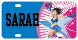 Cheerleader on Star license plate, personalized with any name