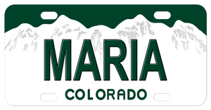 Colorado White Mountains License Plates Personalized With Any Name