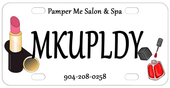 bike plate with nail polish and lipstick but you can request any cartoon spa and personal beauty images