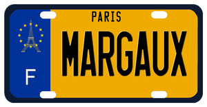 EU style plate for France with the Eiffel Tower with stars around it and Paris on top  Any name in the center