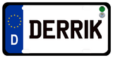D EU style German License Plate personalized with any name
