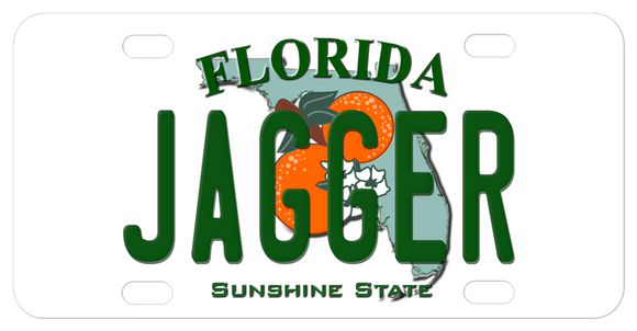 Florida License Plate with any name