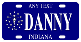Indiana 2008-2013 inspired mini bike plate personalized with any text.