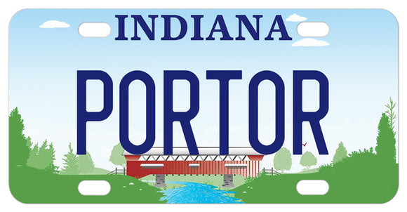 Indiana Covered red bridge mini novelty license plates with any name