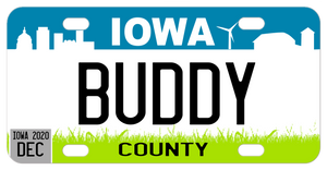 Iowa Personalized Mini License Plates