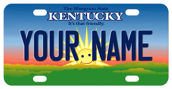 Kentucky it's that friendly smiling sunshine mini license plate with any name
