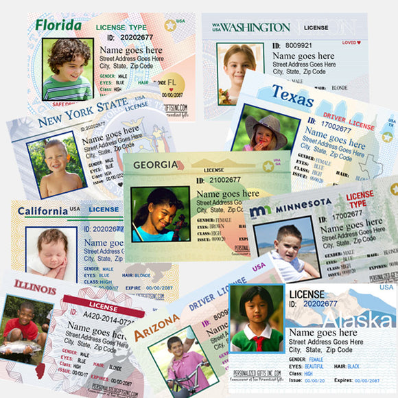 Play State Driver's License for Kids Joke Novelty Licenses