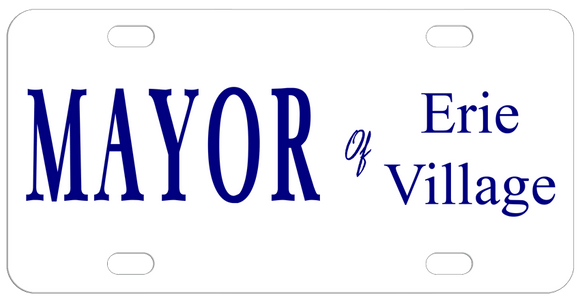 Mayor of Joke License Plates