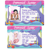 Adult Mermaid License with or without photo