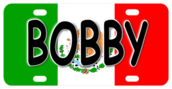 Mexico Flag Heritage License Plates with any name