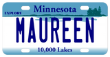 Minnesota Explore custom bicycle license plate with any name