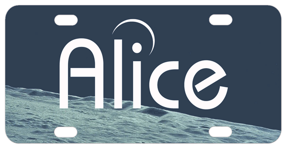 To the Moon Personalized Mini License Plate