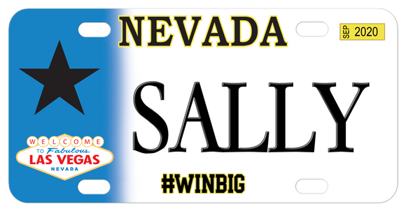 Nevada Fabulous Personalized Bike Plates
