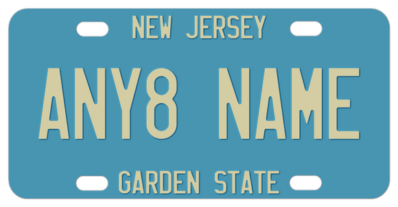 1979 - 1985 New Jersey Antique Blue License Plate with any custom text
