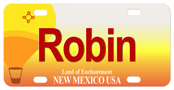 New Mexico Hot Air Balloon personalized bicycle license plate