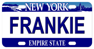 Ne York Empire State bike licence Plate personalized with any text in center