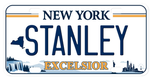 personalized NY bike plate inspired by the new Excelsior plate