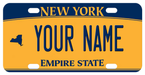 NY Gold and Blue with state icon on left allowing for full name text in center