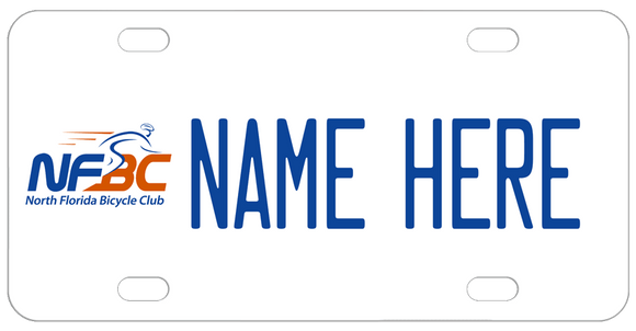 NFBC License Plate logo on left name to the right of logo each centered from top to bottom